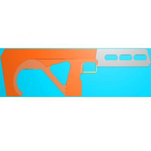 工艺品枪模型精雕图,枪浮雕图,枪雕刻图,雕刻(Q-032)