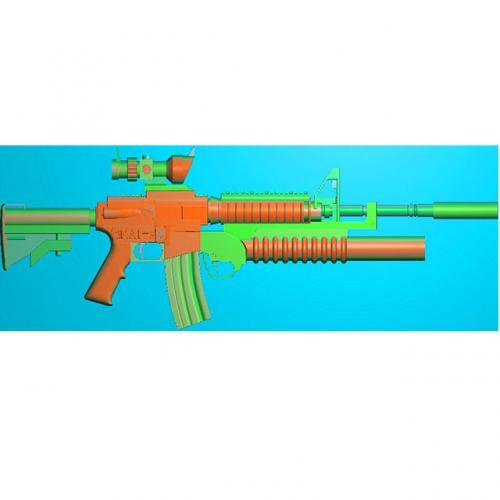 工艺品枪模型精雕图,枪浮雕图,枪雕刻图,雕刻(Q-034)