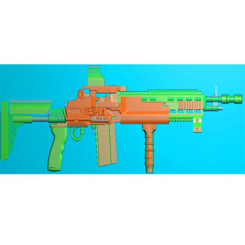 工艺品枪模型精雕图,枪浮雕图,枪雕刻图,雕刻(Q-035)