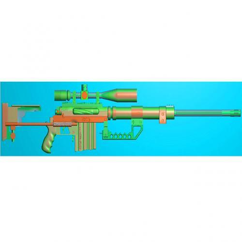 工艺品枪模型精雕图,枪浮雕图,枪雕刻图,雕刻(Q-036)