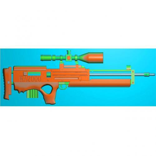 工艺品枪模型精雕图,枪浮雕图,枪雕刻图,雕刻(Q-038)
