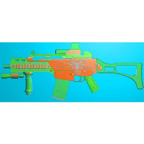 工艺品枪模型精雕图,枪浮雕图,枪雕刻图,雕刻(Q-039)