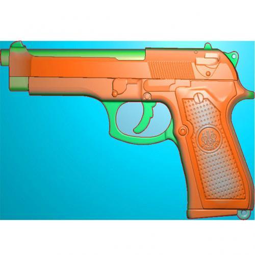 工艺品枪模型精雕图,枪浮雕图,枪雕刻图,雕刻(Q-040)
