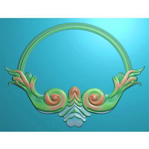 欧式洋花门牌精雕图,洋花门牌浮雕图,欧式洋花雕刻图,标牌雕刻图(MP-012)