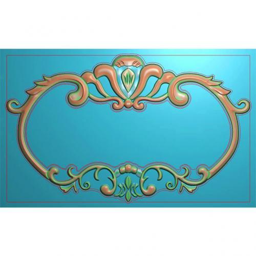 欧式洋花门牌精雕图,洋花门牌浮雕图,欧式洋花雕刻图,标牌雕刻图(MP-014)