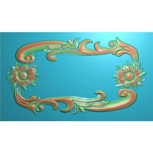 欧式洋花门牌精雕图,洋花门牌浮雕图,欧式洋花雕刻图,标牌雕刻图(MP-020)