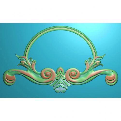 欧式洋花门牌精雕图,洋花门牌浮雕图,欧式洋花雕刻图,标牌雕刻图(MP-022)