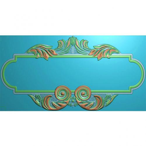欧式洋花门牌精雕图,洋花门牌浮雕图,欧式洋花雕刻图,标牌雕刻图(MP-027)