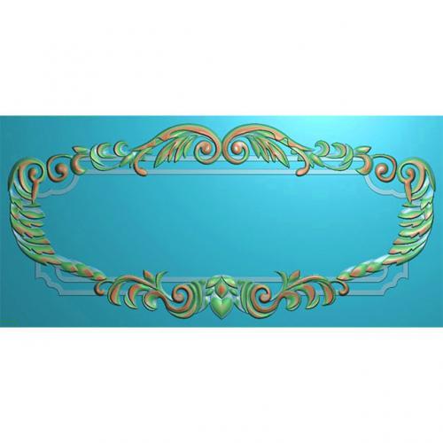 欧式洋花门牌精雕图,洋花门牌浮雕图,欧式洋花雕刻图,标牌雕刻图(MP-028)