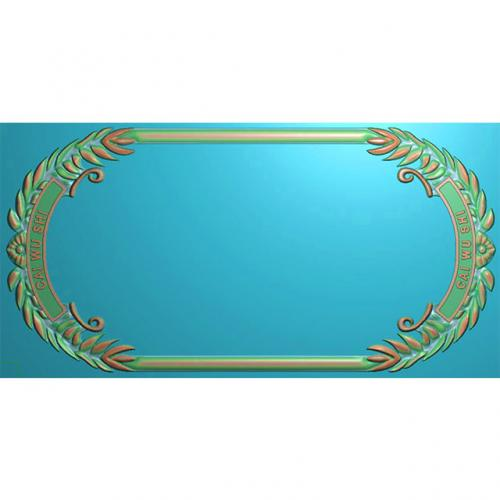 欧式洋花门牌精雕图,洋花门牌浮雕图,欧式洋花雕刻图,标牌雕刻图(MP-029)