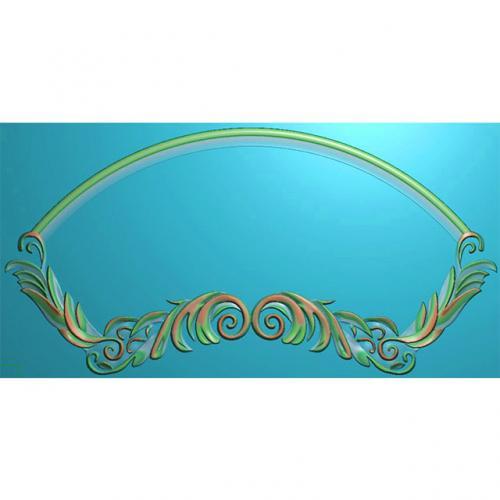 欧式洋花门牌精雕图,洋花门牌浮雕图,欧式洋花雕刻图,标牌雕刻图(MP-030)