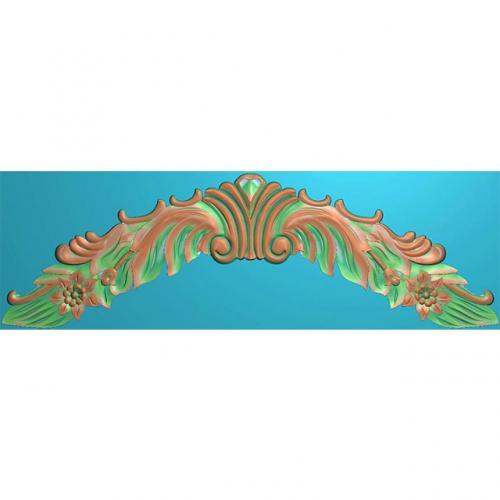 欧式洋花门牌精雕图,洋花门牌浮雕图,欧式洋花雕刻图,标牌雕刻图(MP-041)