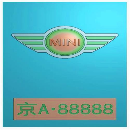 车标牌精雕图,车标牌浮雕图,车标牌雕刻图,工艺品雕刻,46牌,四六牌(CBP-027)