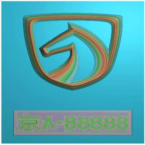 车标牌精雕图,车标牌浮雕图,车标牌雕刻图,工艺品雕刻,46牌,四六牌(CBP-030)