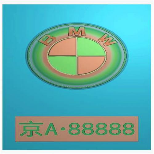 车标牌精雕图,车标牌浮雕图,车标牌雕刻图,工艺品雕刻,46牌,四六牌(CBP-031)