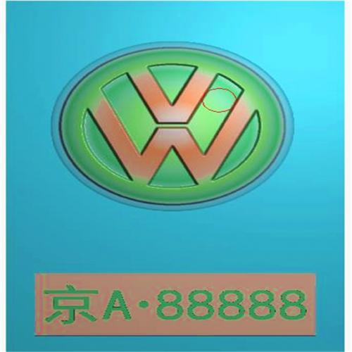 车标牌精雕图,车标牌浮雕图,车标牌雕刻图,工艺品雕刻,46牌,四六牌(CBP-037)