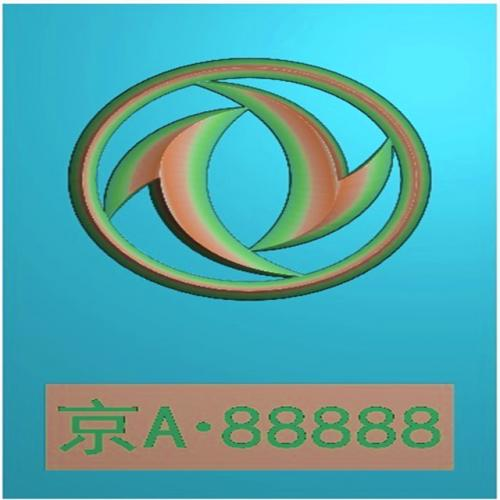 车标牌精雕图,车标牌浮雕图,车标牌雕刻图,工艺品雕刻,46牌,四六牌(CBP-038)