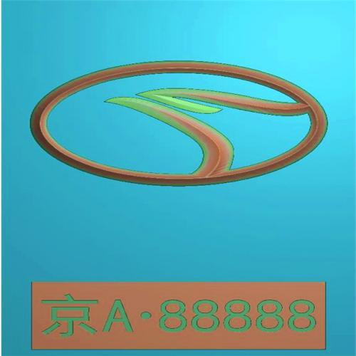 车标牌精雕图,车标牌浮雕图,车标牌雕刻图,工艺品雕刻,46牌,四六牌(CBP-039)