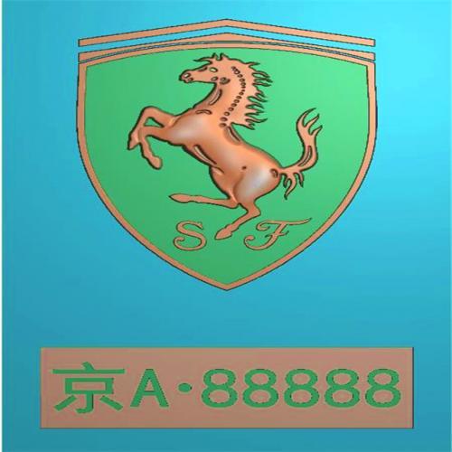 车标牌精雕图,车标牌浮雕图,车标牌雕刻图,工艺品雕刻,46牌,四六牌(CBP-040)