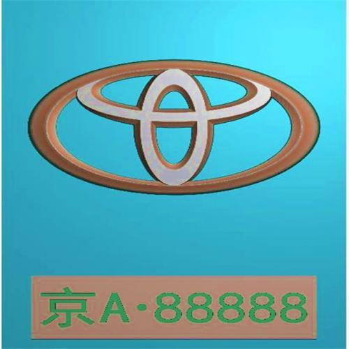 车标牌精雕图,车标牌浮雕图,车标牌雕刻图,工艺品雕刻,46牌,四六牌(CBP-041)