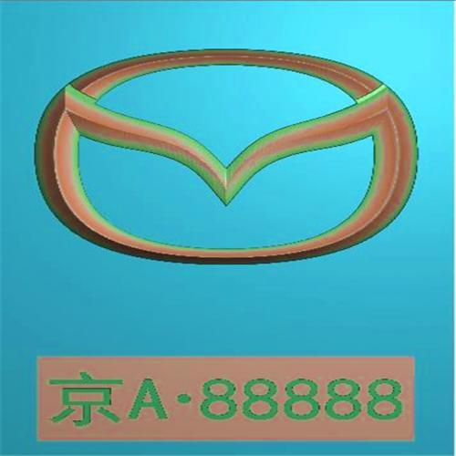 车标牌精雕图,车标牌浮雕图,车标牌雕刻图,工艺品雕刻,46牌,四六牌(CBP-049)