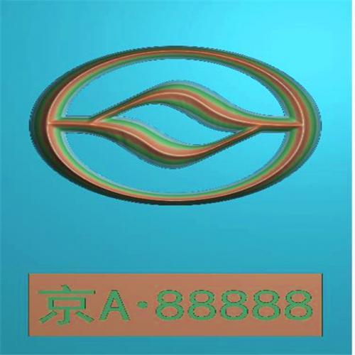 车标牌精雕图,车标牌浮雕图,车标牌雕刻图,工艺品雕刻,46牌,四六牌(CBP-058)