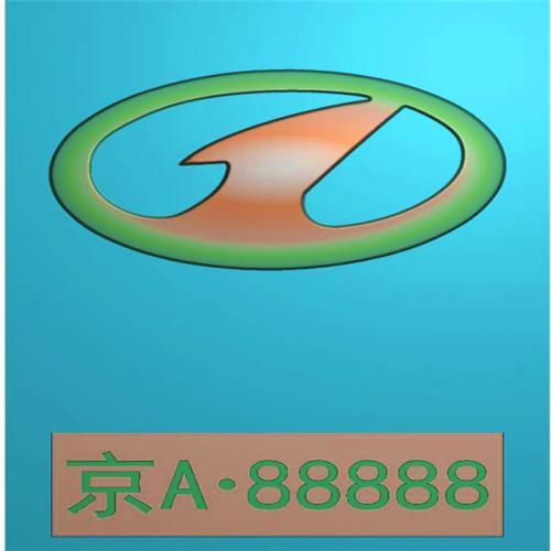 车标牌精雕图,车标牌浮雕图,车标牌雕刻图,工艺品雕刻,46牌,四六牌(CBP-059)
