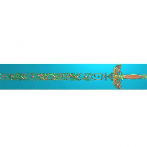 桃木剑精雕图,宝剑浮雕图,木雕剑,剑雕刻图,工艺品剑精雕图(DJF-359)