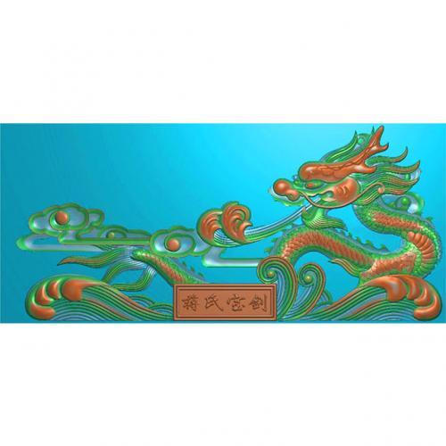 桃木剑精雕图,宝剑浮雕图,木雕剑,剑雕刻图,工艺品剑精雕图(DJF-365)