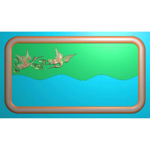 松鹤茶盘精雕图,松鹤茶盘浮雕图,松鹤茶盘雕刻图,茶盘茶台(SHCP-112)