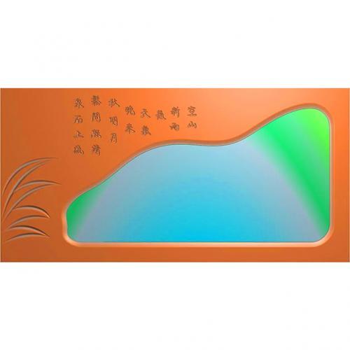 松鹤茶盘精雕图,松鹤茶盘浮雕图,松鹤茶盘雕刻图,茶盘茶台(SHCP-115)