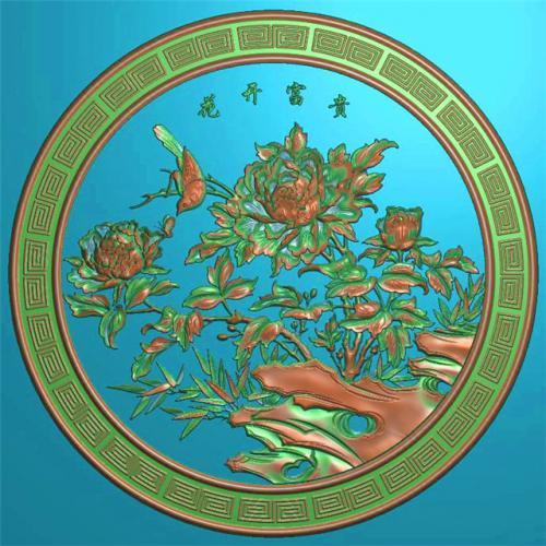 花鸟挂件挂匾挂屏精雕图,挂件挂屏挂匾浮雕图,挂屏挂匾雕刻图(GJ-097)