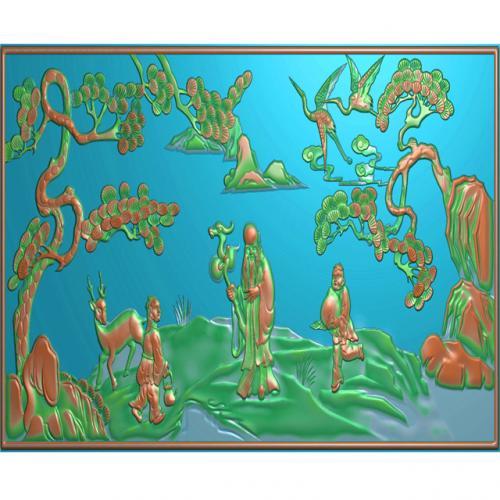 挂件挂匾挂屏精雕图,挂件挂屏挂匾浮雕图,挂屏挂匾雕刻图(GJ-150)