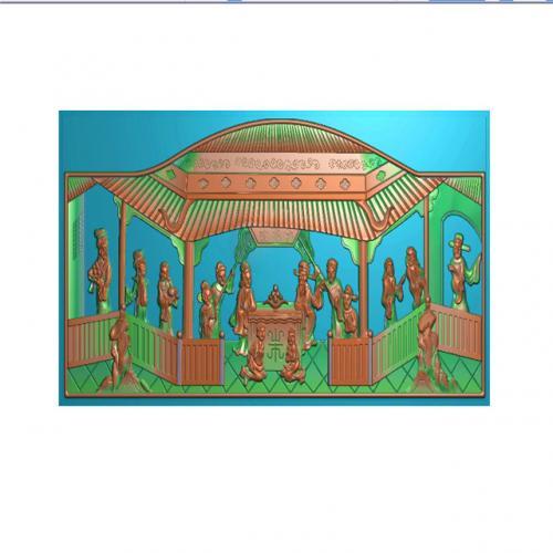 挂件挂匾挂屏精雕图,挂件挂屏挂匾浮雕图,挂屏挂匾雕刻图(GJ-321)