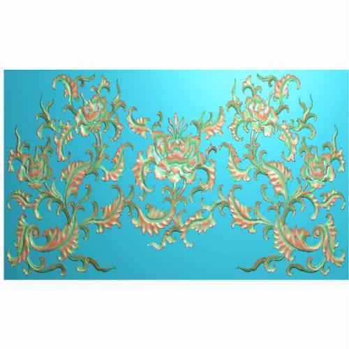 中式花背板精雕图,背板浮雕图,背板雕刻图(CTBB-355)