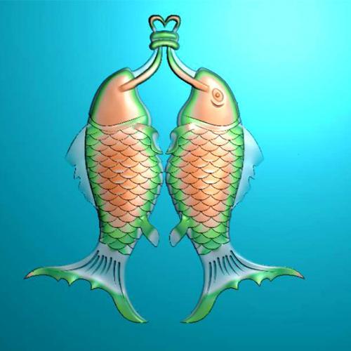 鱼精雕图,鱼浮雕图,鱼雕刻图,鱼加工图(Y-312)