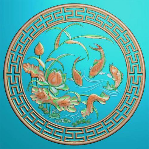 鱼精雕图,鱼浮雕图,鱼雕刻图,鱼加工图(Y-314)