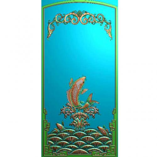 鱼精雕图,鱼浮雕图,鱼雕刻图,鱼加工图(Y-328)