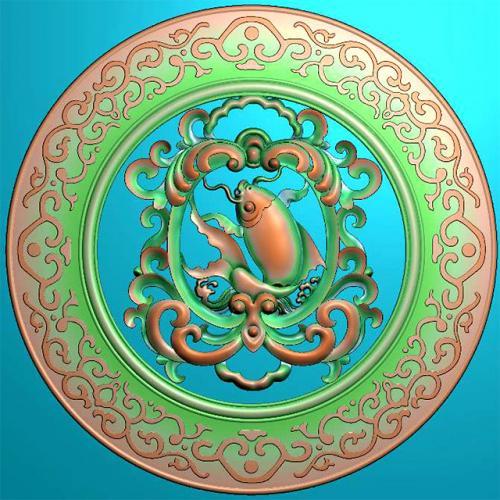 鱼精雕图,鱼浮雕图,鱼雕刻图,鱼加工图(Y-329)