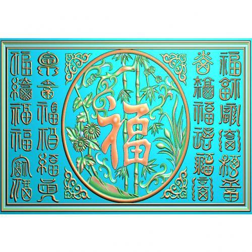 石材牌匾精雕图,牌匾浮雕图,背景文字牌匾雕刻图线(PB-44)