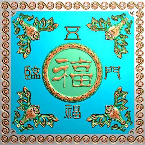 石材牌匾精雕图,牌匾浮雕图,背景文字牌匾雕刻图线(PB-55)