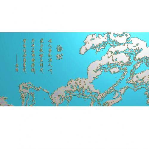 牌匾文字背景精雕图,文字背景浮雕图,文字背景雕刻图,文字背景加工图(Z-3029)