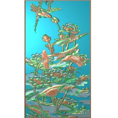 花鸟石头浮雕图(HN-020)