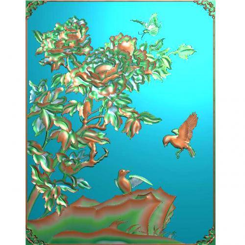 花鸟浮雕图(HN-021)
