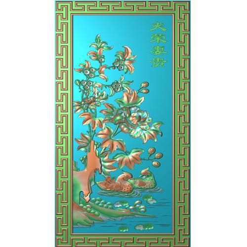 花鸟浮雕图(HN-022)