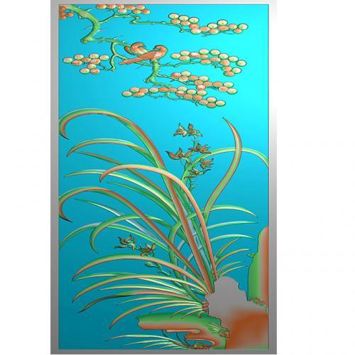 花鸟浮雕图(HN-205)