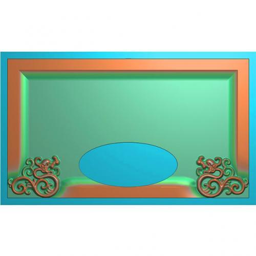 龙凤茶盘茶台浮雕图(LFCP-035)