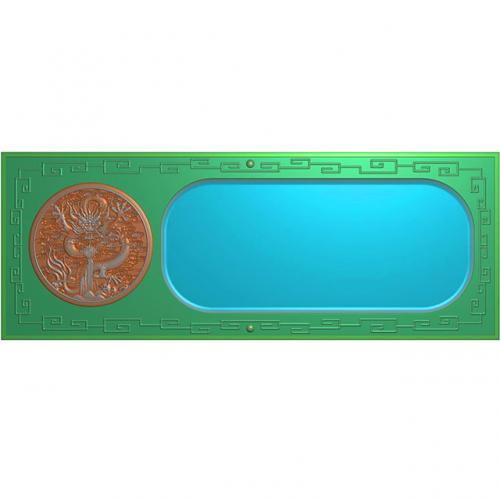 龙凤茶盘茶台浮雕图(LFCP-036)