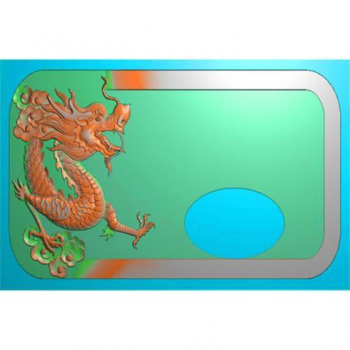 龙凤茶盘茶台精雕图(LFCP-102)