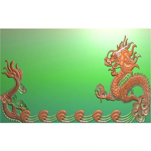 龙凤茶盘茶台精雕图(LFCP-103)